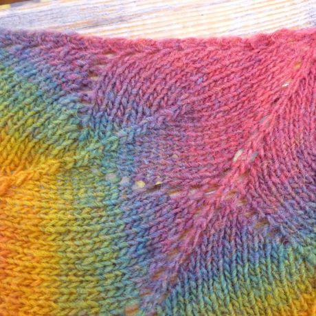 спицами лист радужная 100% форма душевный кленовый шаль ручная работа необычная шерсть дундага теплый подарок