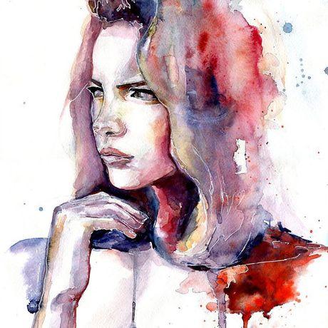 art watercolor портрет на заказ художник арт акварель картина