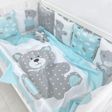 новорожденный вкроватку постельное бортики будумамой