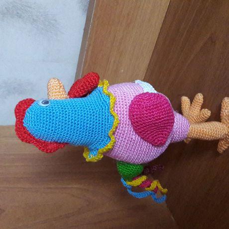 кручок вязанная игрушка амигуруми петушок петух