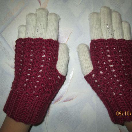 без изделиярукавички пальчиков крючкомодежда вязание митенки вязаные