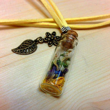 глина античная бронза украшение подвеска полимерная баночки ручная работа бутылочки девушке кулон сухоцветы подарок