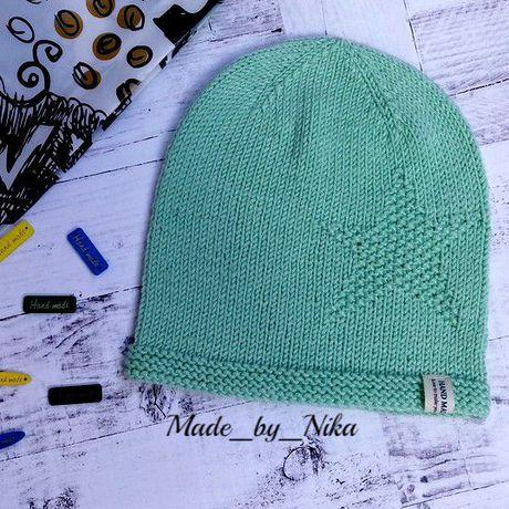 вязаная шапочка длямальчика длядевочки малышам головныеуборы назаказ аксессуары спицами шапка детям стиль ручнаяработа длядетей мода