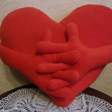 ручнаяработа подушка подарок сердце