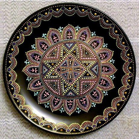 декоративнаятарелка восточныеузоры мальта тарелка точечнаяроспись handmade декор ручнаяработа подарок