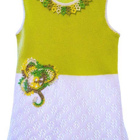 хлопка разноцветный девочки девочек однотонный вязаная детское одежда туника для из фриволите платье