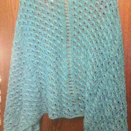 аксессуары хлопок одежда вязание женская палантин