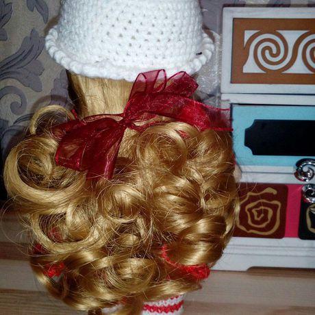кукла трикотаж интерьерная вязанные малышка ручнаяработа новыйгод кулирка одежки деньрождения подарок