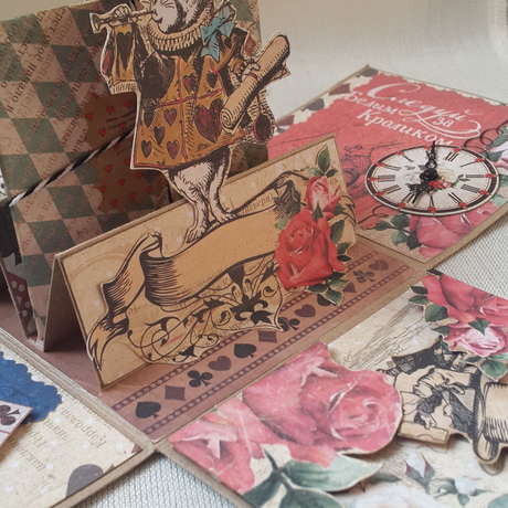 подарокдевочке подарокдевушке алиса открытка скрапбукинг подарок