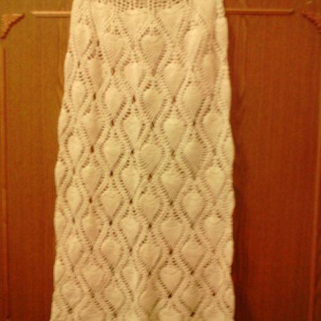 вязаная крючком белая юбкапляжная юбкакружевная юбкавязаниеюбка