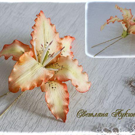 волос шпильки фоамирана украшения фоамиран для из лилия
