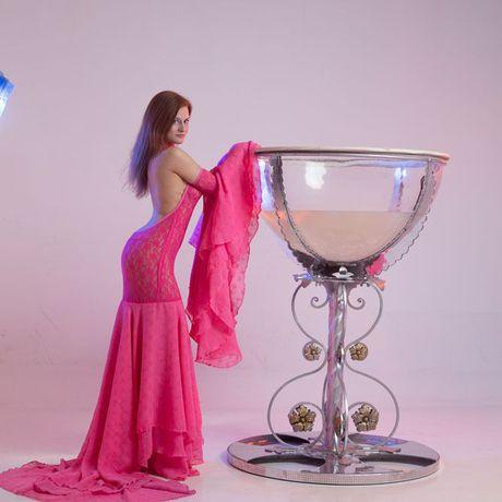 розовоеплатье стрейч съемныерукова соткрытойспиной гипюр шифон платье