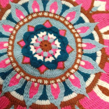 вязание крючком коврик прикроватный