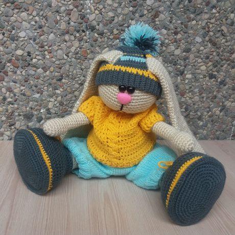 handmade детей ручная вязание для заяц зайка работа крючком заказ подарок made_by_nika