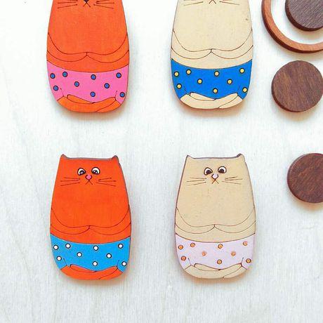 брошки дерева котик работы деревянная ручной деревянные заказ купить значки значок брошка украшение броши украшения