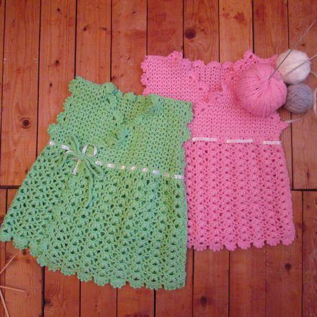 вязаное платье ручнаявязка длядевочек детскаяодежда лето ручнаяработа дети