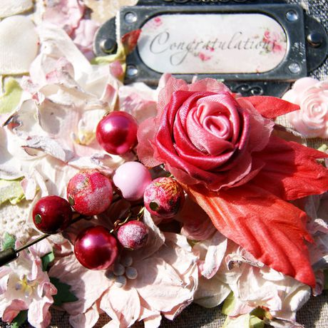 булавка шелк роза подарок