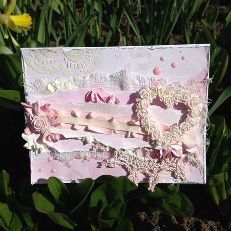 открытка handmade деньвлюбленных ручнаяработа открыткаручнойработы подарок