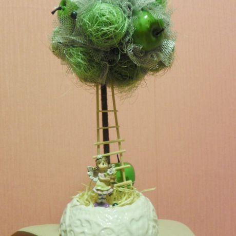 сизаль яблоки топиарии зеленый