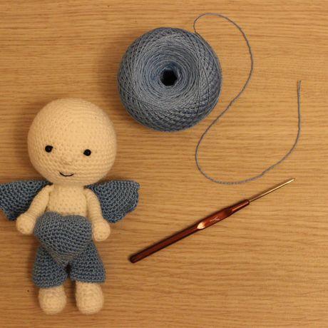 handmade вязание ангел декор ручная игрушка крючком детям работа