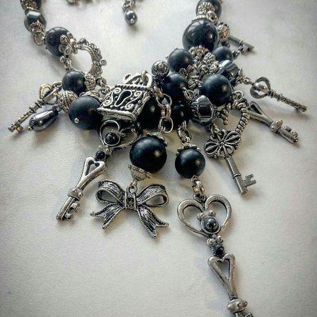 handmade агат красота ожерелье делаюукрашения твойстиль ключи замки длядевушек ручнаяработа дляженщин подарок