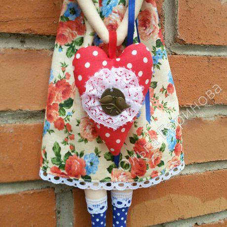 маме кукла тильда сердце праздник интерьерная ангел подарок