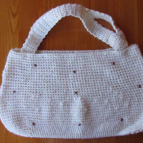 шипы женщины сумка ручная женская крючком заказ белая