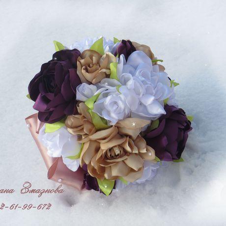 лент букет свадебный ткани