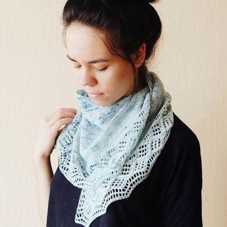 knitting шейныйплаток knit shawl вязание вязаное натуральное шаль платок бактус