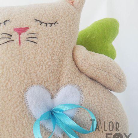 игрушки коты подушки интерьер бежевый мягкиеигрушки ирушкиподушки котыручнойработы котыангелы усатыеанглесы зеленый голубой уют