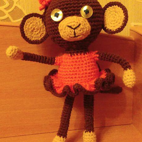 вязаныеигрушки вязаниеназаказ обезьянка вязаниекрючком