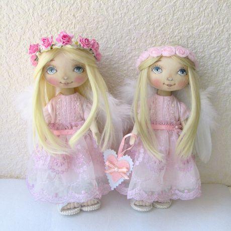 интерьерная работы ангел ручной хранитель в девочке кукла текстильная девушке текстильный подарок