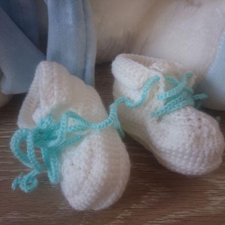 вязание детям пинетки носочки