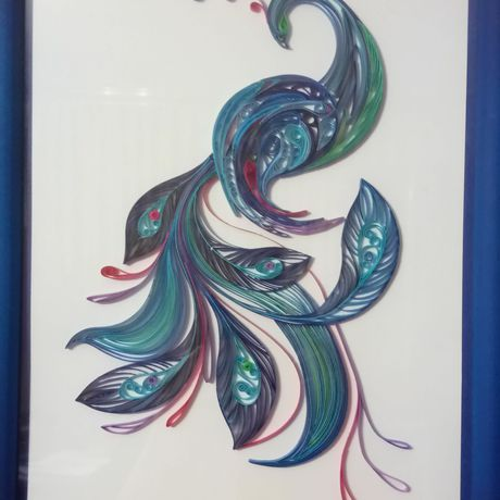 квиллинг красота картина подарок птица
