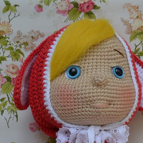 игрушка кукла мягкая детям крючком