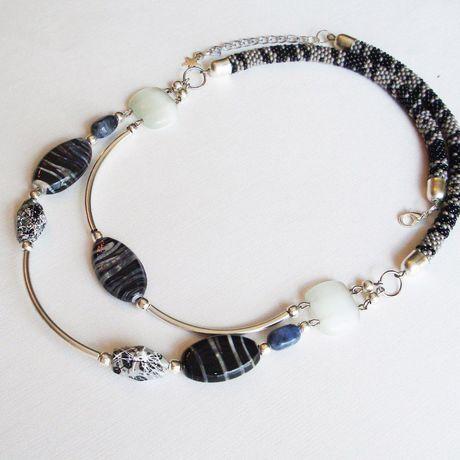 украшение шею агат натуральные колье ожерелье камни