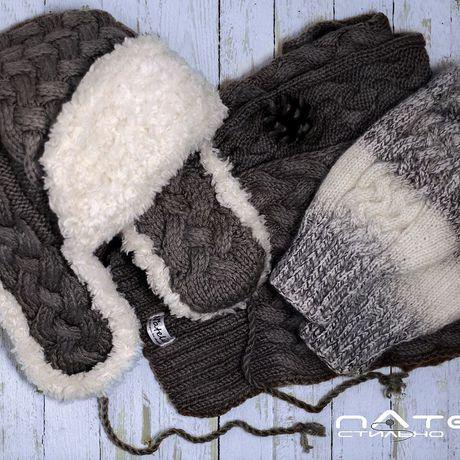 вязанаяшапка длинныйшарф ушанка мужскаяшапка шарф мужской варежки
