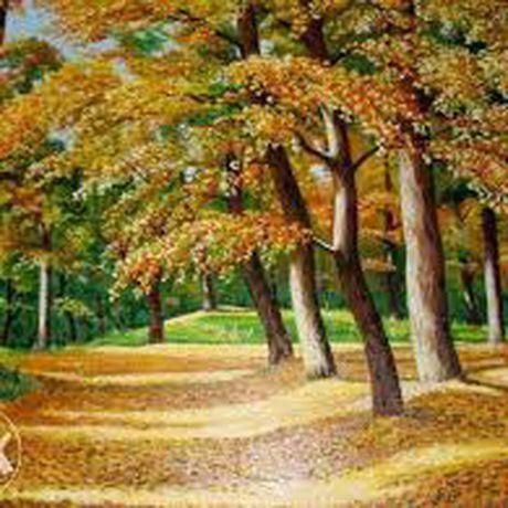 маслом осенний рисунки современное искусство лес картина