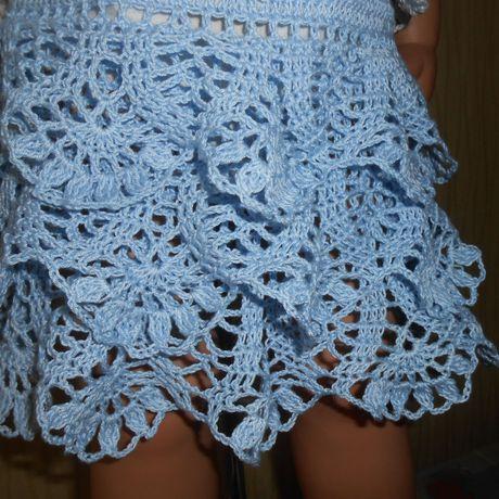 топик хлопок связан юбка летний крючком костюм