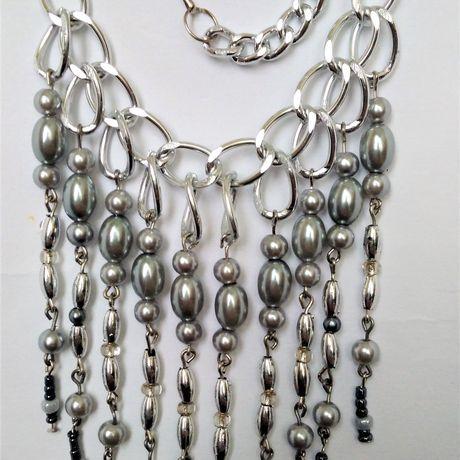 серебристое ожерелье цепочка для бусины женщины девушки подарок