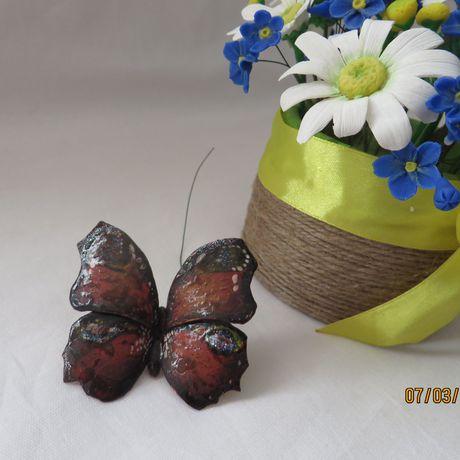 глина композиция бабочка букет полимерная интерьерная цветы