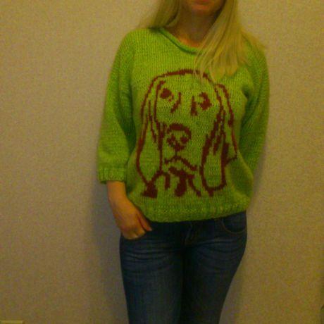 вязаный орнамент кофточка ангора пуловер