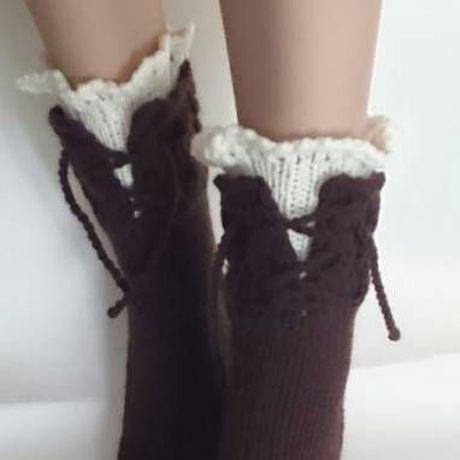 женские новый модные год шерстяные вязаные купить носочки носки бохо подарок