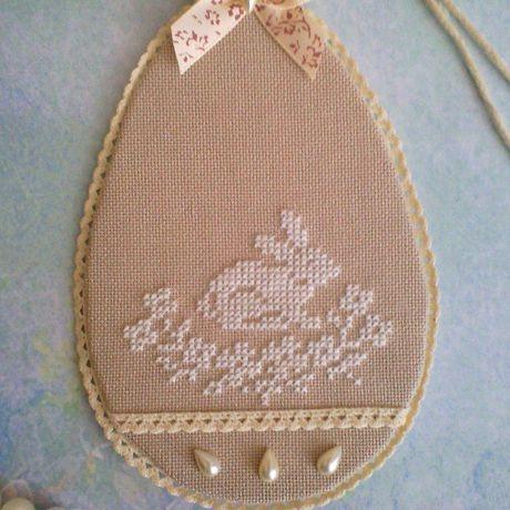 вышивка крестом пасха украшение винтажное подарок