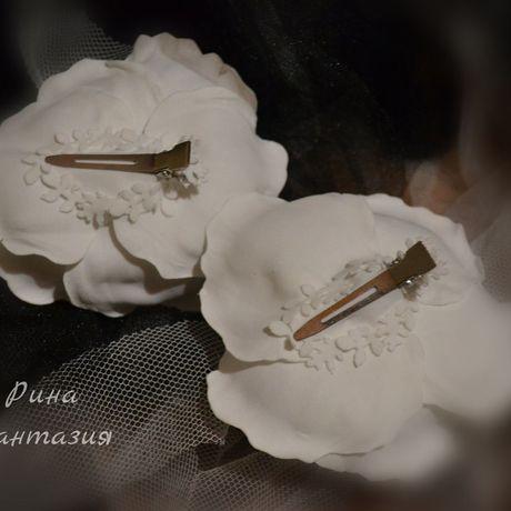 цветыизфоамирана зажимдляволос цветочныеоблака ринафантазия дляженщины длядевочки украшенияручнойработы снег