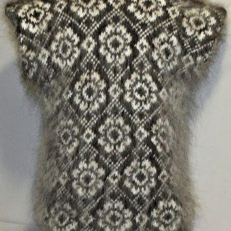 натуральный одежда жилет красивый счастье ручная вязаный вязание пряжа козий пух hand made унисекс вязка цветы подарок пуховый жаккардовая козья продукт лечебная