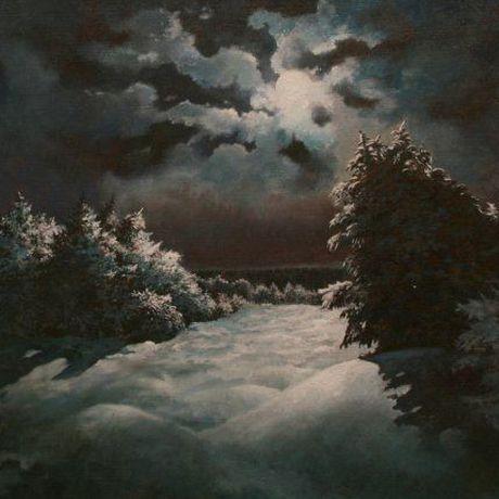 луна картину купить холст живопись ночь масло картина