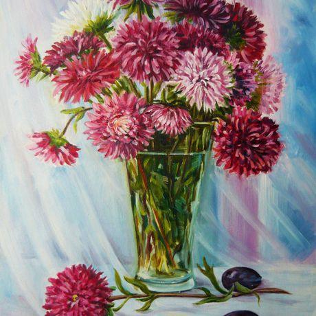 масло живопись натюрморт картины холст цветы