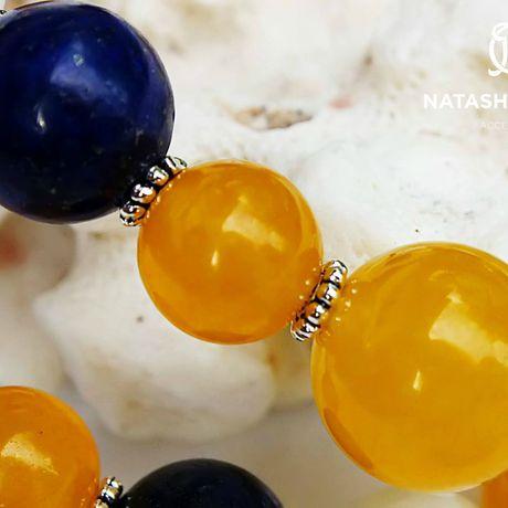 украшение браслет жадеит агат натуральные серебро камни подарок лазурит