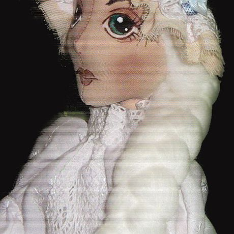 винтаж будуарная кукла подушка кружево текстильная подарок